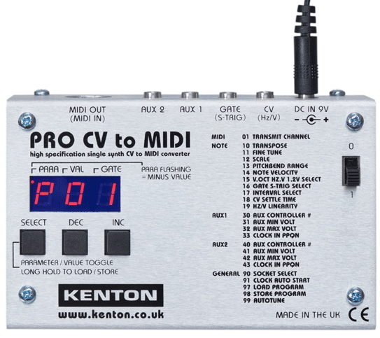 Boitier Kenton CV MIDI