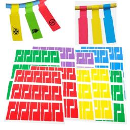 etiquettes cables de couleurs