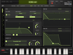 Korg iM1 Ipad app capture