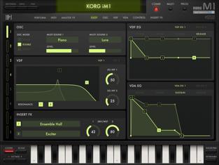 Korg iM1 Ipad app capture