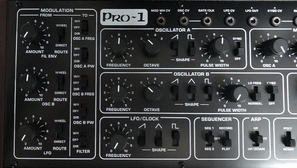 Behringer Pro-1 Les modulations