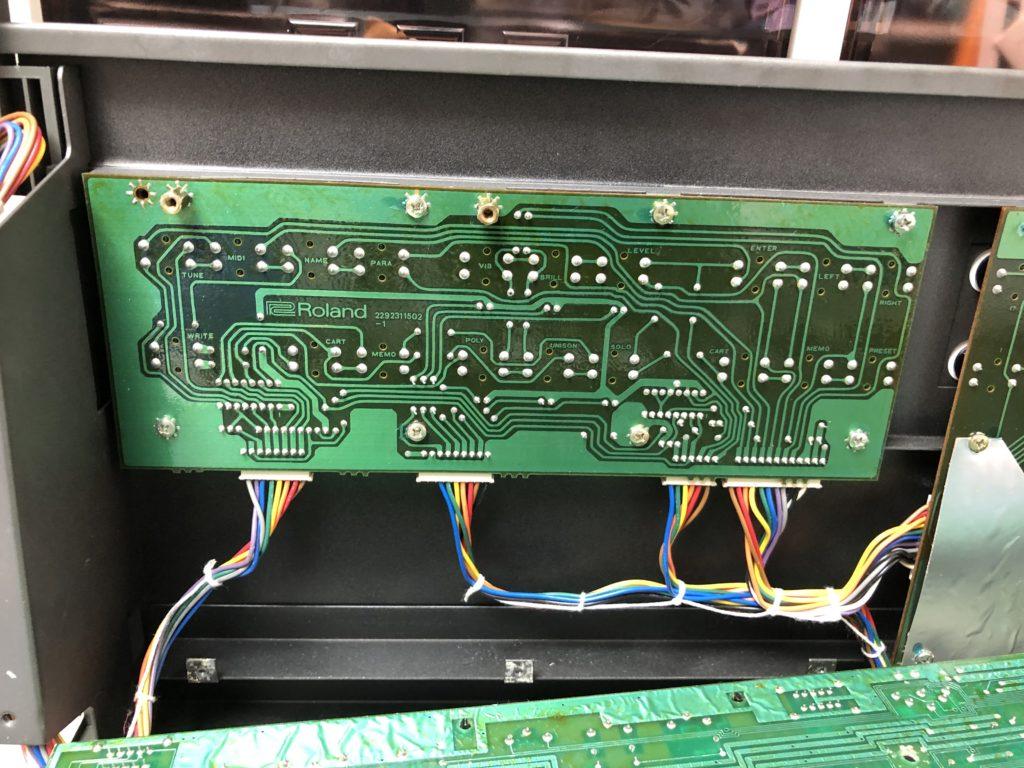 Photo de la carte switch board 2 du Roland JX-8P