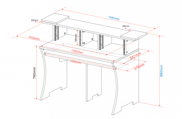 Dimensions du bureau Glorious Workbench