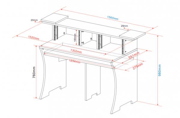 Dimensions du bureau Glorious Workbench