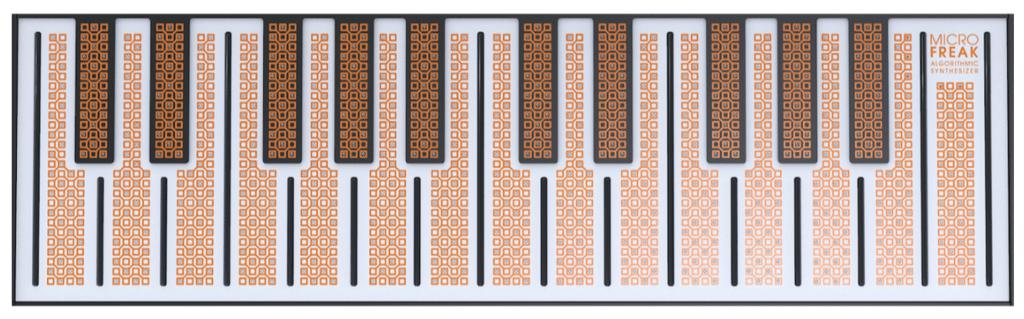 Le clavier tactile et capacitif du Microfreak d'Arturia