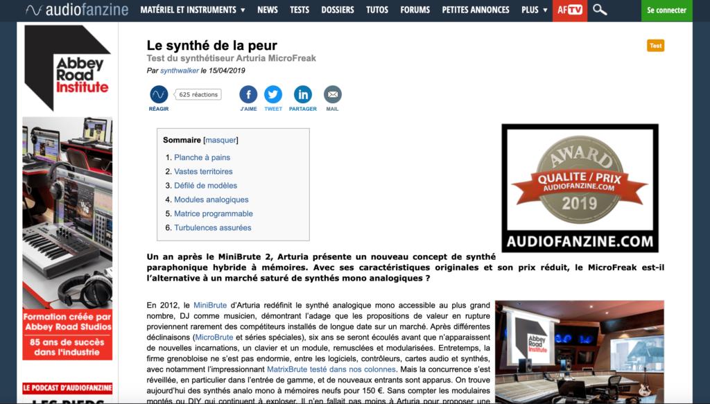 test de l'arturia microfreak sur audiofanzine