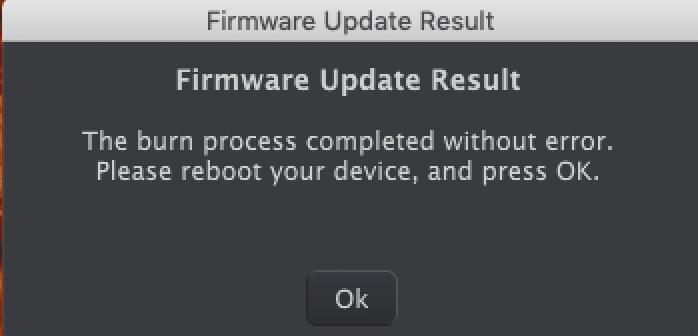 La mise à jour s'est bien déroulée, on éteint et on rallume le Microfreak