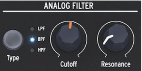 Le filtre analogique du Microfreak d'Arturia