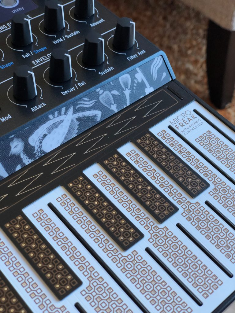 clavier tactile et capacitif du Microfreak Arturia