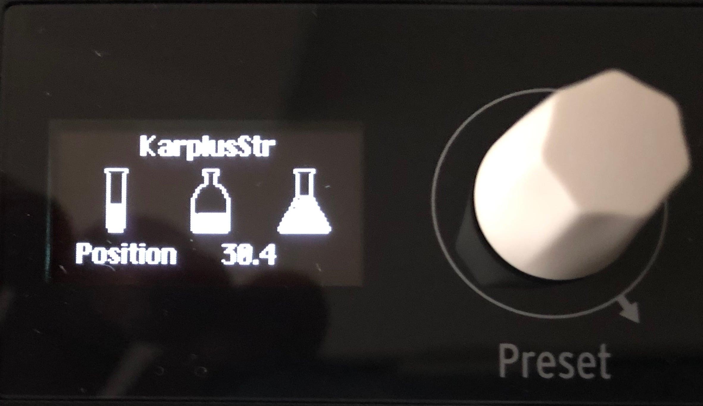 Les réglages de l'oscillateur du Microfreak d'Arturia