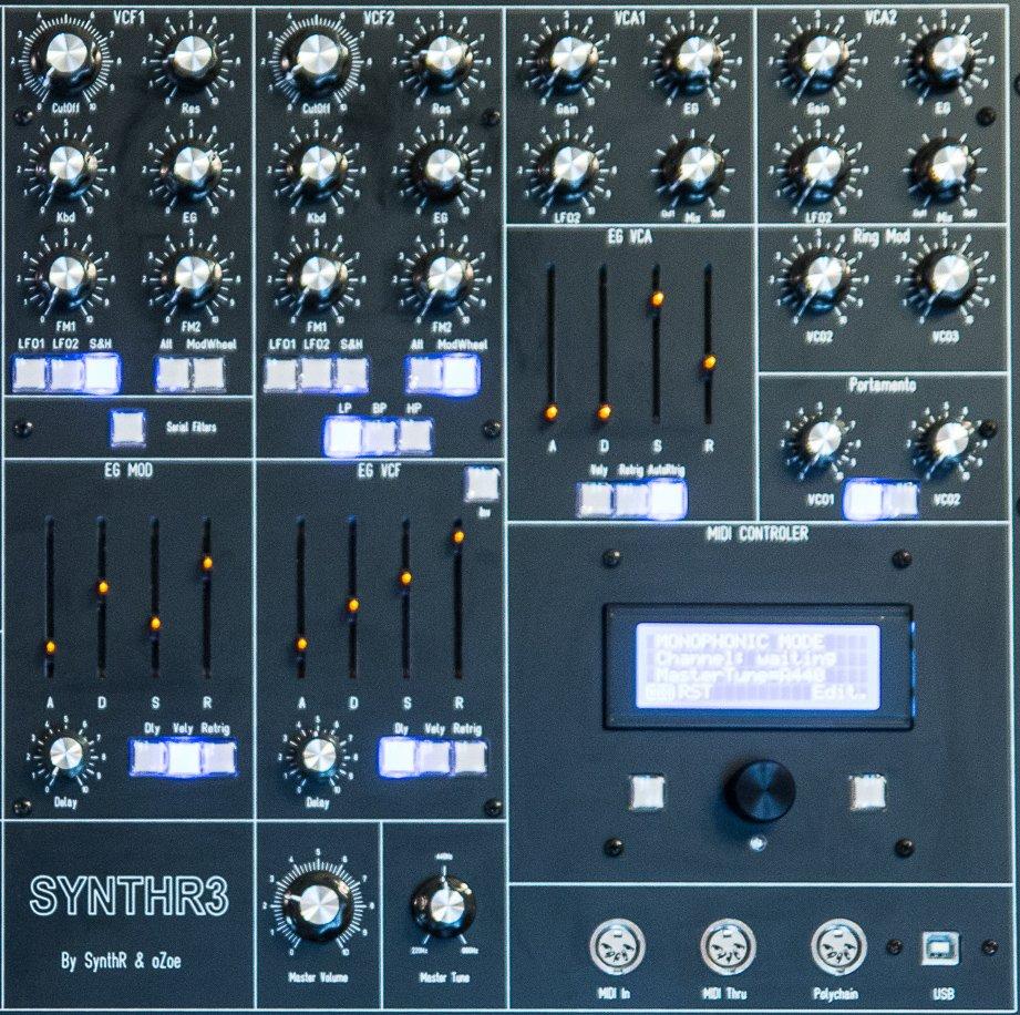 La partie Filtres et VCA du SynthR3