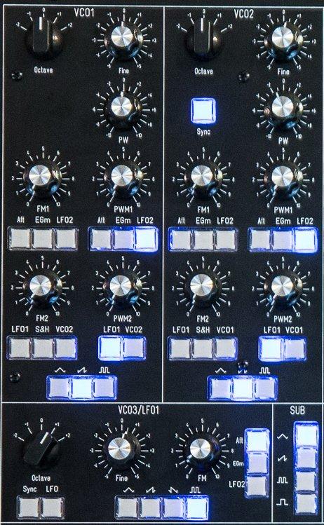 La partie VCO du SynthR3