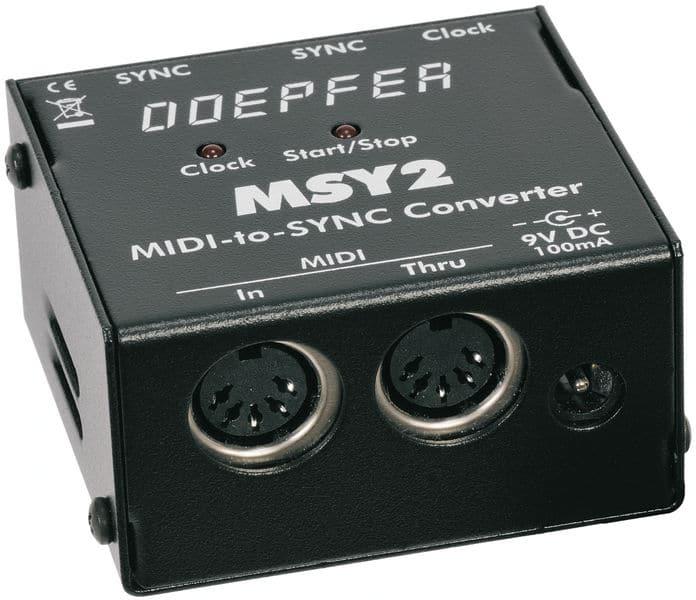 Boitier adaptateur MIDI to SYNC DOEPFER MSY2