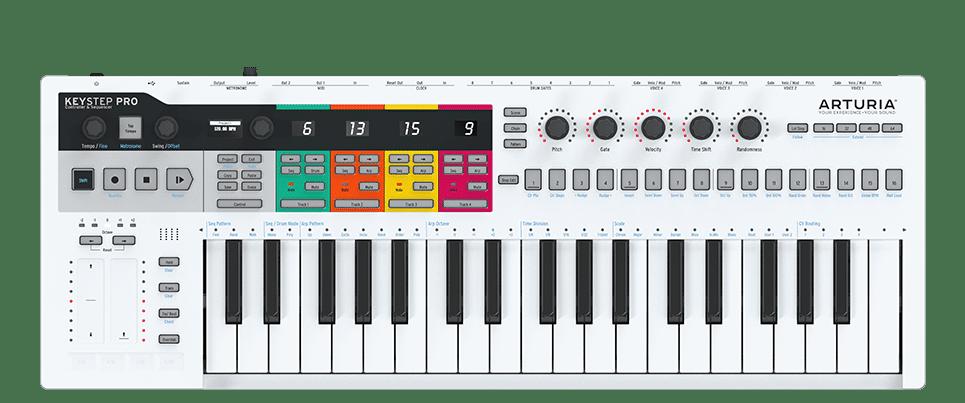Arturia Keystep Pro avec prises CV/Gate, MIDI et son séquenceur
