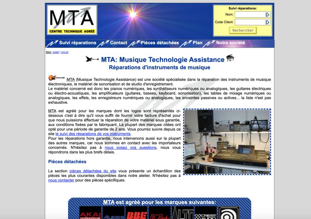 MTA réparateur de synthétiseurs