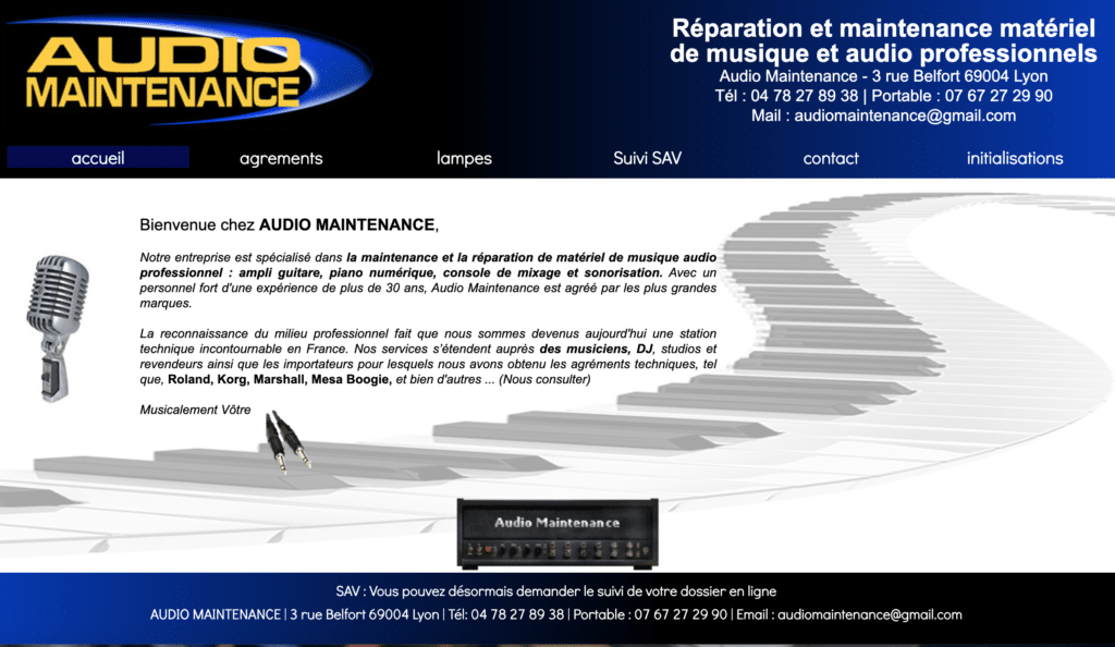 Audio maintenance réparation de synthétiseurs