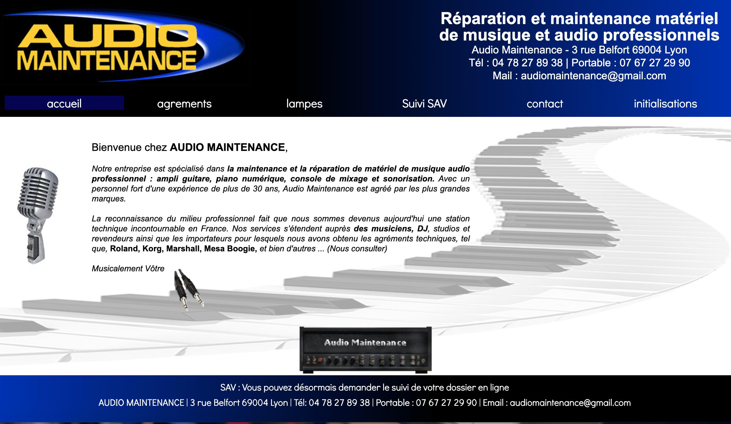 Audio maintenance réparation de synthétiseurs
