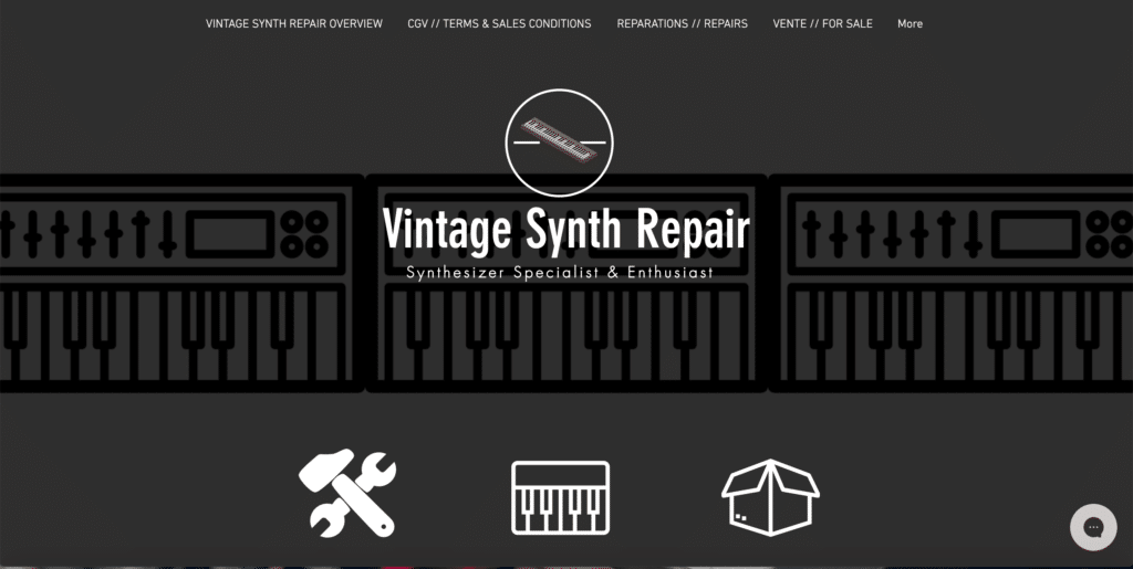 Vintage Synth Repair réparateur de synthétiseurs