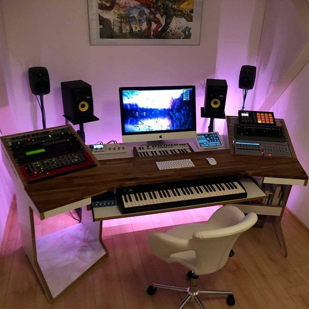 Une lumière diffuse dans son home studio grâce aux leds