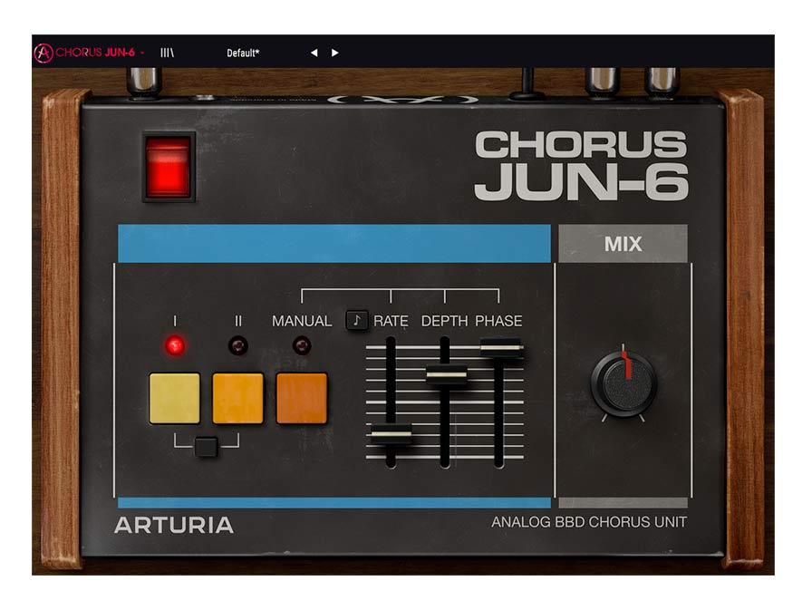 L'interface du Chorus Arturia JUN_6