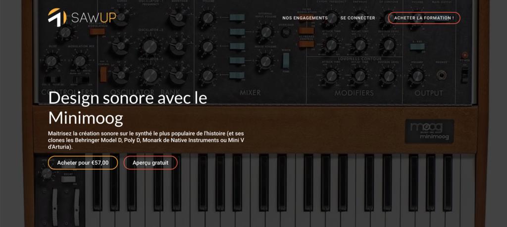 Formation Design sonore avec le Minimoog sur le site Sawup.fr