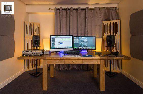 Home studio avec ambiance lumineuse