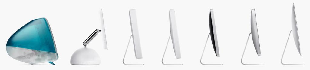 Les différentes générations d'Imac Apple