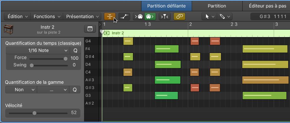Editeur MIDI de Logic Pro X