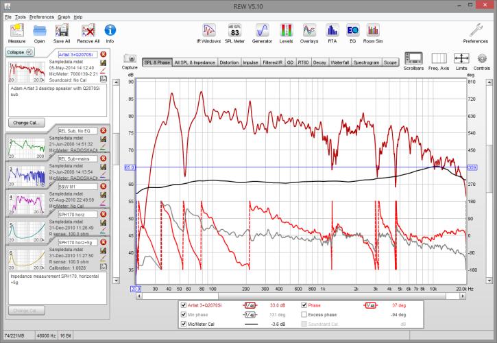 Mesures acoustiques avec le logiciel gratuit REW