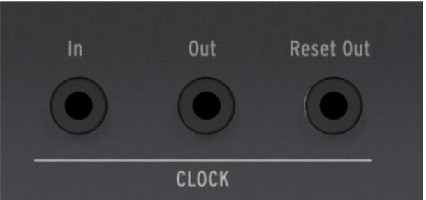 Les sorties d'Horloge du Keystep Pro