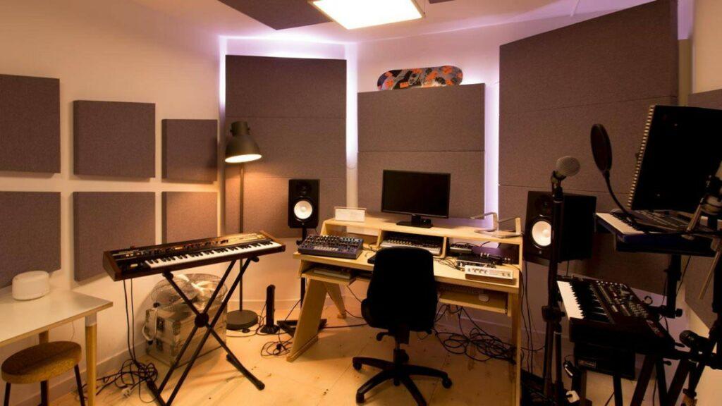 Traitement acoustique d'un home studio